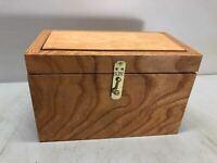 Custom Quarter Sawn Oak Matched Grain Locking Latch Box COOL UNIQUE GIFT DECOR