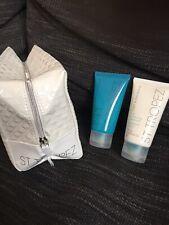 ST TROPEZ Enchancing Polish & Tan Moisturiser In PVC Make Up Bag New