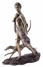 "11"" Artemis Diana The Huntress w/ Dog Statue Greek Goddess Statue Roman"