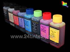 8 x 100ml 800ml DYE Tinte Refill Ink R800 R1800 R 800 1800 T0540 T0541 T0542 MBk
