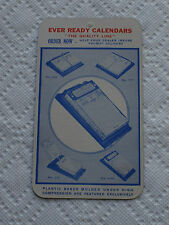 Old Vintage Ad 1947 1948 Calendar Fond Du Lac Wis. Office Stationery Ever Ready