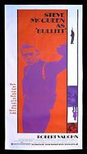 BULLITT ✯ CineMasterpieces ORIGINAL MOVIE POSTER CAR RACING STEVE MCQUEEN 1969