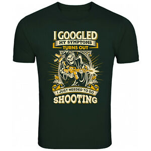 Needed To Go Shooting Crazy Skull T Shirt Funny T-Shirt Mens Womens Unisex Tee