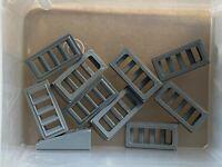 10 Slope 18 2 x 1 x 2//3 w 4 Slots 61409 BLACK LEGO Parts ~