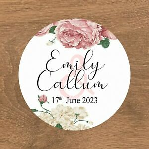 Personalised Wedding Stickers Favour Labels (E-030)