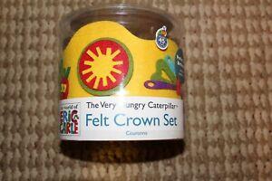Teachers! Pre-School! K! Eric Carle the Very Hungry Caterpillar Felt Crown Set ❤