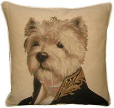 Thierry Poncelet Westie West Highland Terrier Tapestry Cushion Cover Sham
