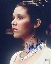 CARRIE FISHER AUTOGRAPHED SIGNED STAR WARS PRINCESS LEIA BAS COA 8X10 PHOTO