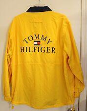 Vtg Tommy Hilfiger Yellow Jacket Large Logo on Back -XL