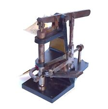 MACHINE FOR LEATHERING TACKS Patent Model Antique Taunton MA Sewing Textile Rare
