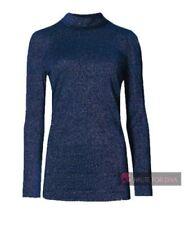 Maglie e camicie da donna blu aderente senza marca