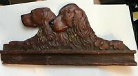 WONDERFULLY UNIQUE VINTAGE RELIEF OF TWO DOGS, RETRIEVERS/SETTERS, GUNDOGS