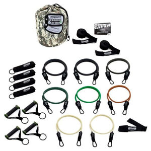 Bodylastics 21 Piece Exercise Equipment Warrior Set with Weight Resistance Bands