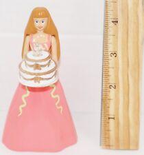 "BARBIE PINK DRESS BIRTHDAY CAKE TOY FIGURE 4.5"" MCDONALDS MATTEL 1999 - NO LIGHT"