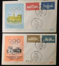 Germany 1970 FDC munich olympic games shot put bonn average used