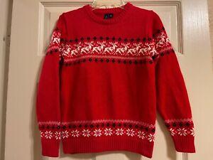 Janie and Jack Holiday Rehearsal Reindeer Sweater Boys EUC Size 8