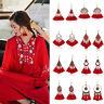 Ethnic Red Bohemian Earrings Long Tassel Fringe Boho Dangle Earring Jewelry Hook