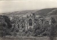 Postcard - Melrose Abbey from the South - View