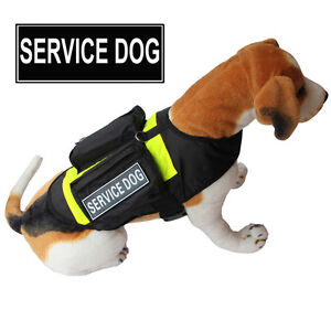 SERVICE DOG Vest Harness with POCKETS & Side Bags Removable Patches 5 Sizes