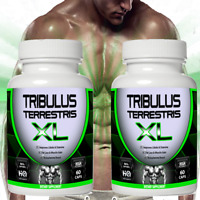 TRIBULUS TERRESTRIS EXTRACT 96% SAPONINS 7500mg BODY BUILDING TESTOSTERON 2 X