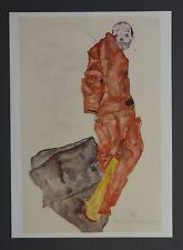 Egon Schiele Lichtdruck Collotype 36x50cm Signed Self Portrait as prisoner 1912