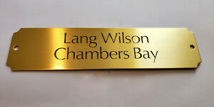 """BRASS PLATE EQUINE STABLE STALL CUSTOM ENGRAVED NAME TAG PREMIUM 8""""W x 2""""H"""
