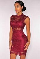 Vestidos Ropa De Moda Para Mujer Cortos Bonitos Casuales De Fiesta Encaje Rojos