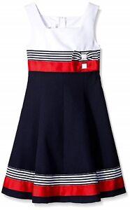 Bonnie Jean Girls Easter Navy Nautical Sailor School Uniforms Dress 4-20 1/2