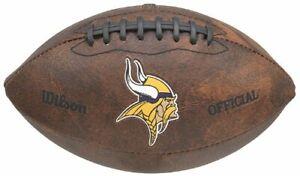 "Wilson NFL Minnesota Vikings 9"" Color Logo Composite Leather Mini Football"