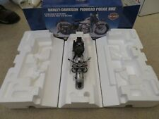 Franklin Mint Harley Davidson Panhead Police Bike Motorcycle 1:10 MIB 2003