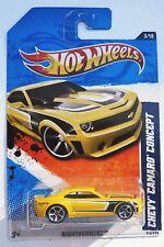Hot Wheels Chevy Camaro Concept Yellow Nightburnerz Near Mint 2011 MOC