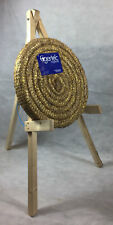 65cm Egertec Round Coiled Archery Straw Target Boss & Wooden Stand * Package *