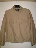 GAP Men's Long Sleeve Pullover Jacket 3/4 Zip Up (S) SMALL Khaki Tan Lightweight