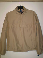 GAP Men's Long Sleeve Pullover Jacket 3/4 Zip Up (S) SMALL Khaki Tan Lightweight