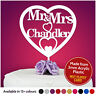 Personalised Wedding Cake Topper Mr and Mrs Table Decoration Bride Groom Pick