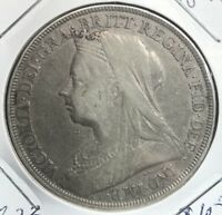 1896 GREAT BRITAIN SILVER CROWN COLLECTOR COIN.