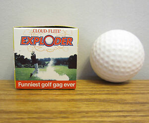 1 EXPLODING GOLF BALL EXPLODES IN A CLOUD OF SMOKE GAG GIFT PRANK CLOUD-FLITE