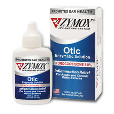 New listing Zymox Pet King Brand Otic Pet Ear Treatment with Hydrocortisone 1.25oz 37ml