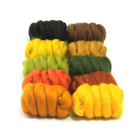 Autumn Leaves - Dyed Merino Wool Top - Felting - Roving - Spinning - 250g