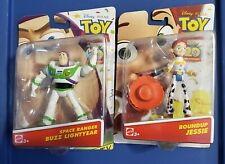 "Disney Pixar Toy Story Roundup Jessie and Space Ranger Buzz Lightyear 4"" Figures"