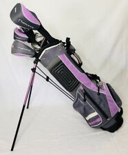 Junior Maxfli 10 Piece Lavender Purple Golf Clubs and Stand Bag Set Right Handed