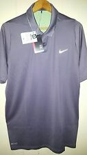Tiger Woods Nike Golf Snap-Up Polo Shirt Men Size Small NEW Grey
