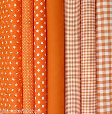 Baumwollstoffe Orange Meterware Stoffe Uni Punkte Sterne Karo Patchwork 9,80€m