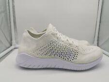 Nike Womens Free RN Flyknit 2018 Run UK 7.5 White 942839-103
