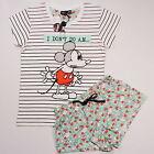 DISNEY Mickey Mouse Ladies Pyjama Set T Shirt & Shorts Primark UK 14-16