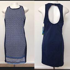 NWT Women's Size 16 Tropical Escape Open Back Swim Dress Cover Up Blue NEW $84