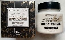 Beekman1802 Pure Goat Milk Whipped Body Cream Snow Forest NIB 8 oz