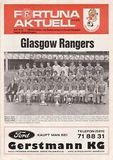 Programm   1979-1980   Fortuna Düsseldorf v Glasgow Rangers   Cup Winners Cup
