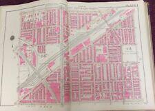 1925 NORTH PHILADELPHIA STATION FAIRHILL BURIAL GROUND PA COPY PLAT ATLAS MAP