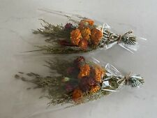 Lot of 2 Dried Marigold Strawflowers Bunches for Peg Hook Shelf Marigolds Bunch